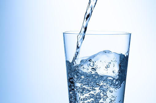 glass of water on white background picture id1161576130