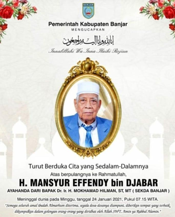 Berduka H. Mansyur Effendy