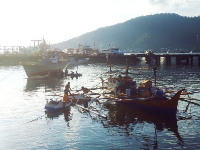 dagho sangihe perahu nelayan di kelurahan Tidore