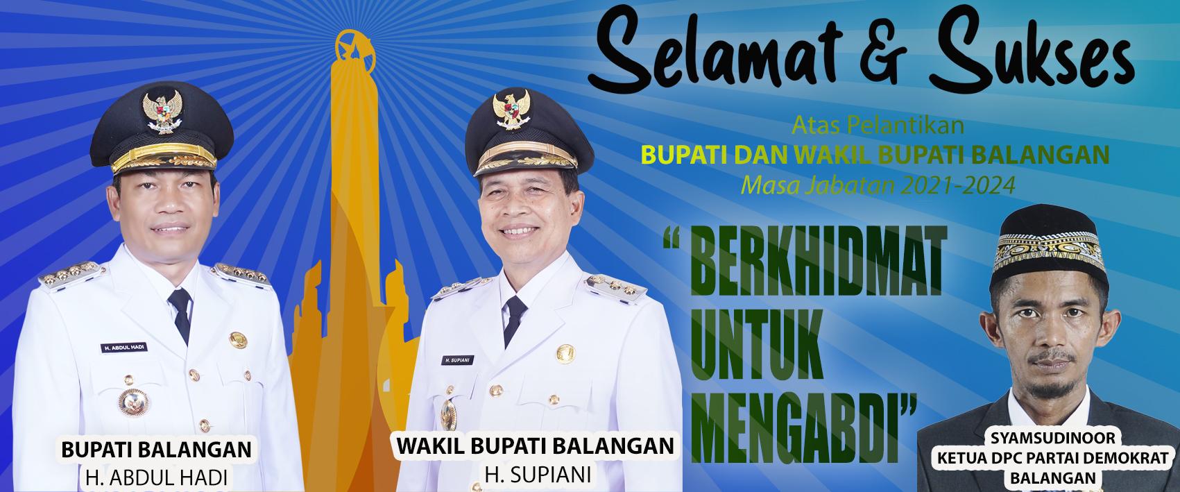 ucapan Syamsudinoor Ketua DPC Partai Demokrat balangan