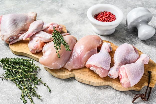 fresh raw chicken meat parts assortment 89816 16246